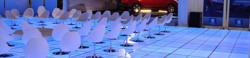 Ledvloer.nl voorbeeld Beursstand LEDvloer 10 x 16 meter