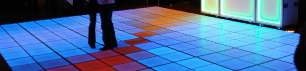 Ledvloer.nl voorbeeld LEDvloer 6 x 6 meter
