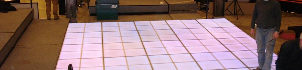 Ledvloer.nl voorbeeld LEDvloer 5 x 5 meter